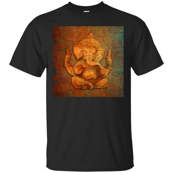 Yoga - Ganesh On A Distress Stone Background T Shirt & Hoodie