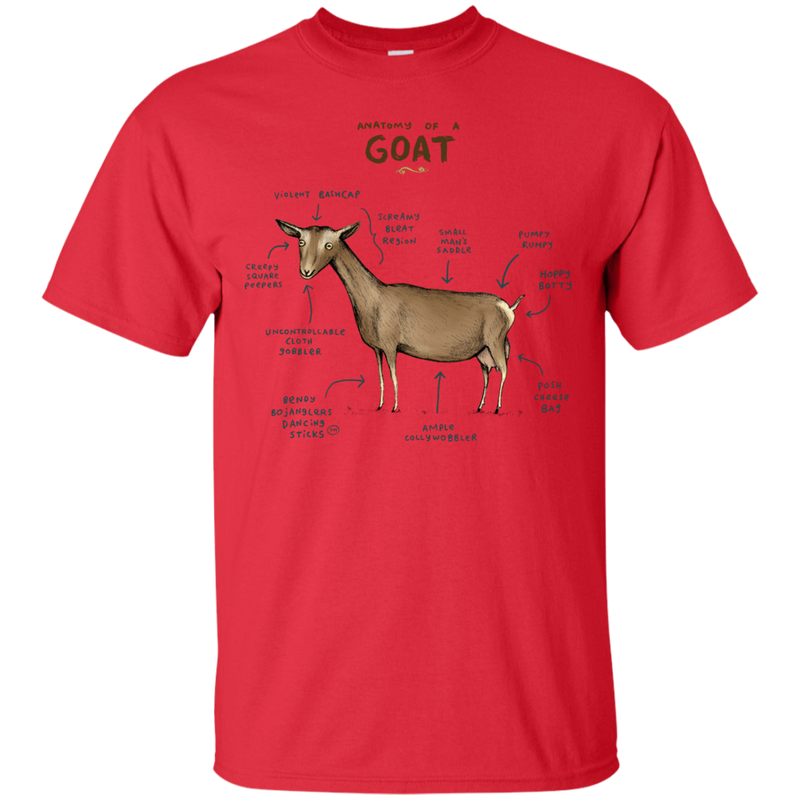 db707266e ANATOMY - Anatomy of a Goat T Shirt & Hoodie – Minimize Shop