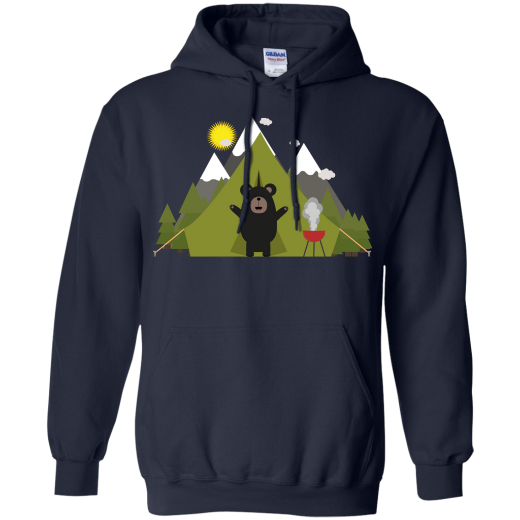 Camping - Grizzly Bear Camping bear T Shirt & Hoodie
