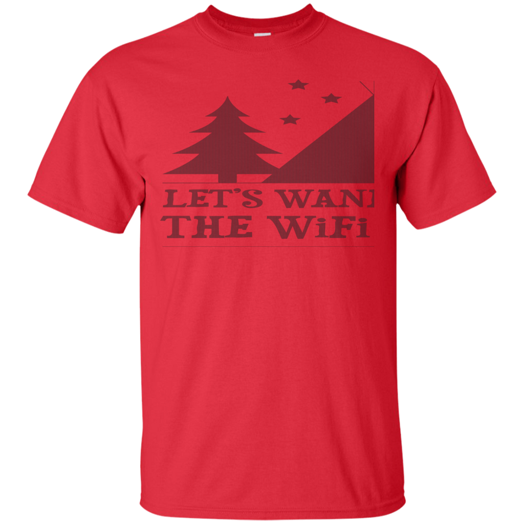 Camping - Lets Wander Where The Wifi Is Weak camping T Shirt & Hoodie