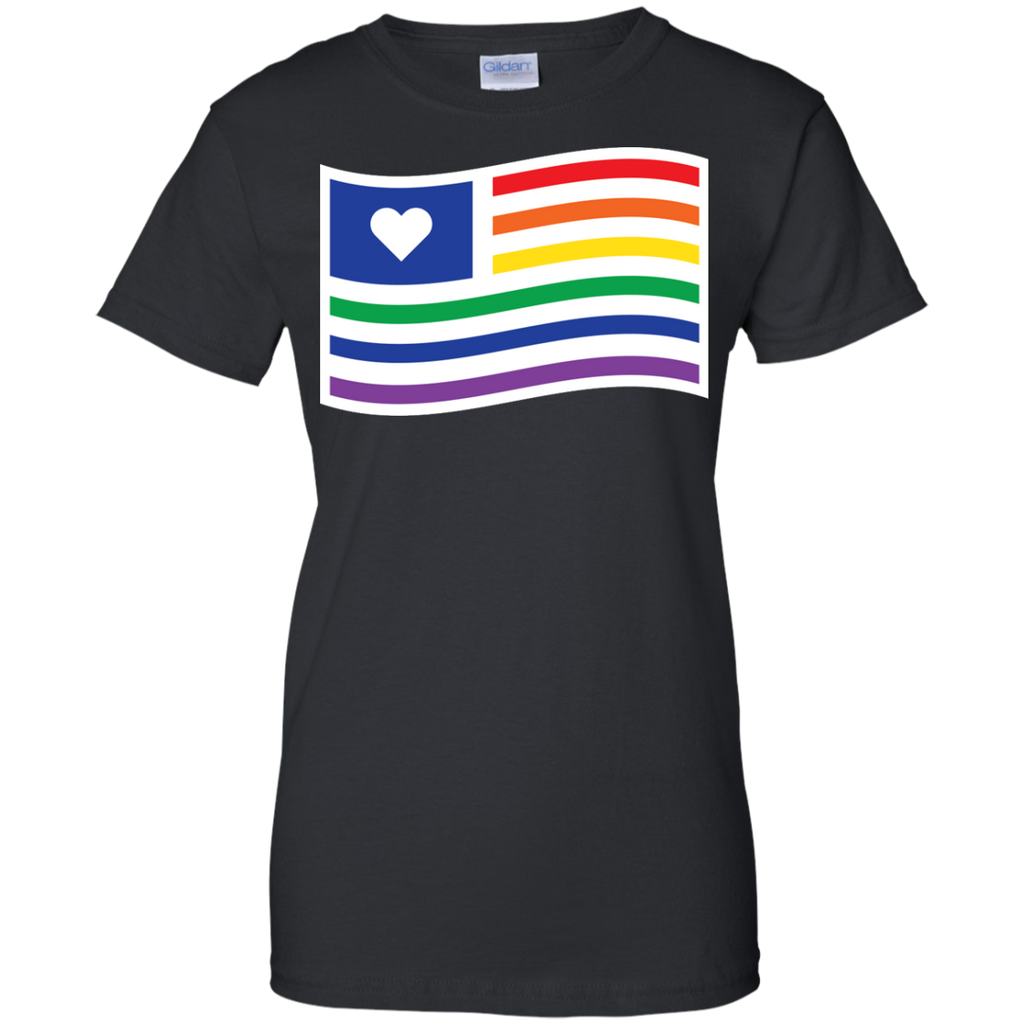 LGBT - Gay Rights Pride Flag With Heart gay pride T Shirt & Hoodie