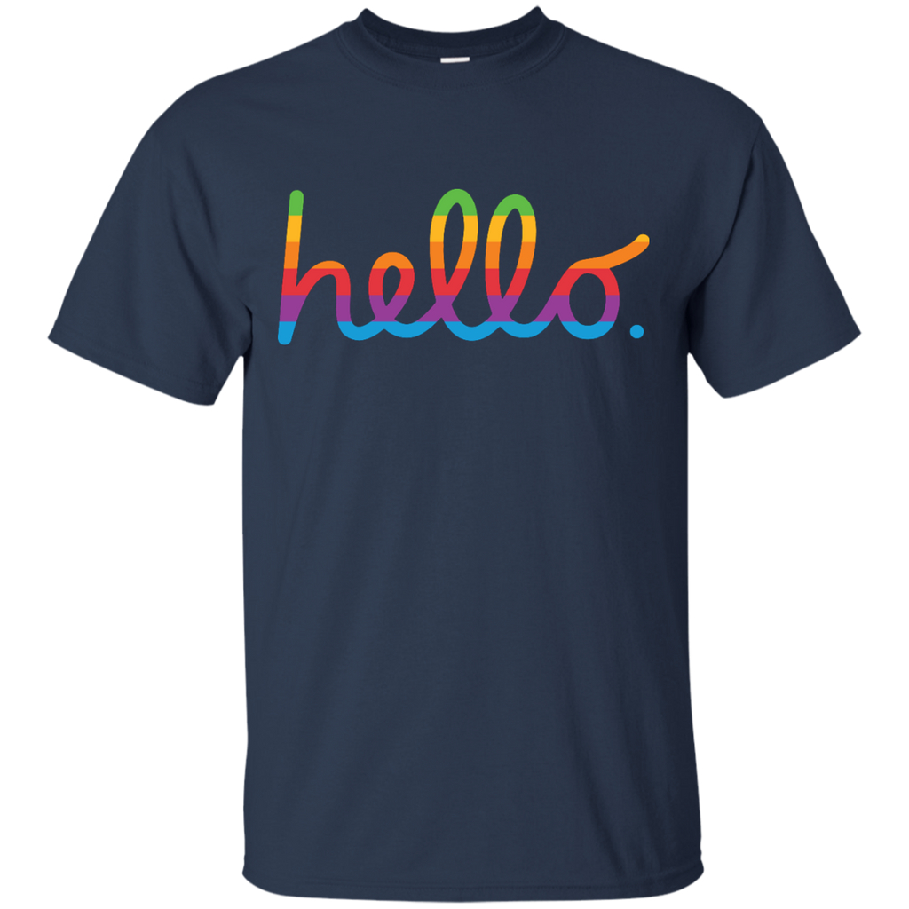 LGBT - hello lisa rainbow apple T Shirt & Hoodie