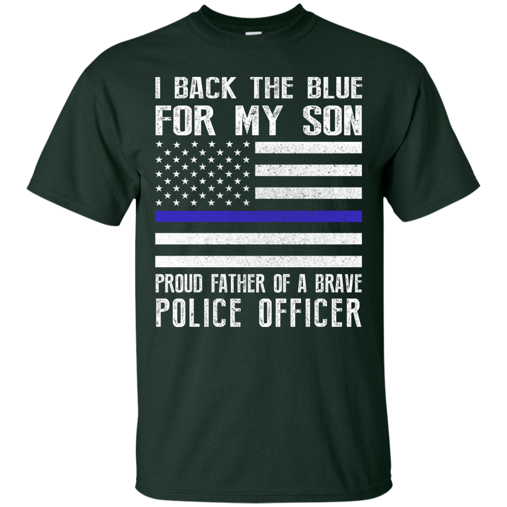 Yoga - I BACK THE BLUE FOR MY SON POLICE THIN BLUE LINE FOR DAD T shirt & Hoodie
