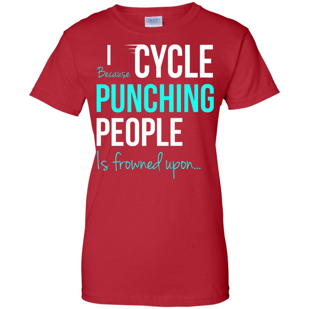 Yoga - I CYCLE BECAUSE PUNCHING PEOPLE IS FROWNED UPON T shirt & Hoodie
