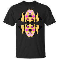 101 DALMATIANS - Dalmatian Dog Face Neon pink and yellow T Shirt & Hoodie