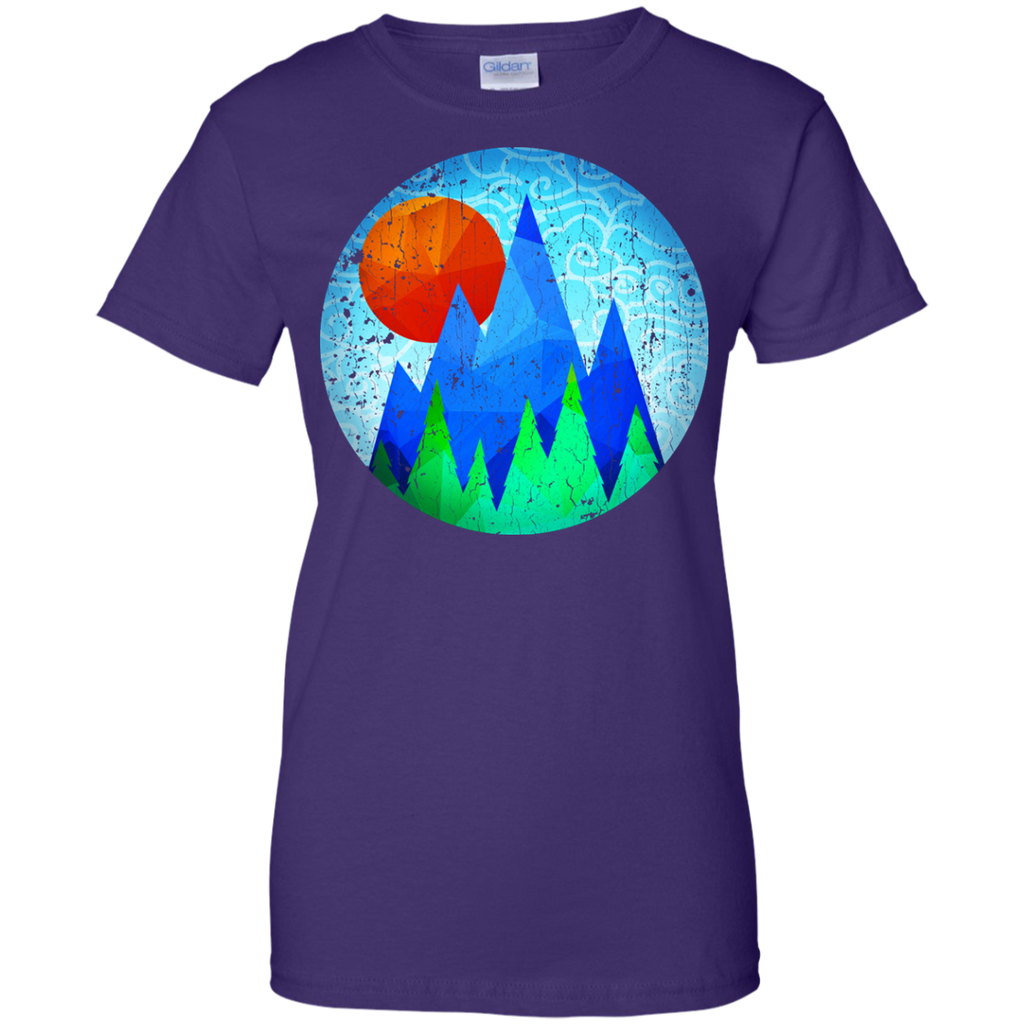 Camping - Mountain Sunrise vintage look mountain T Shirt & Hoodie