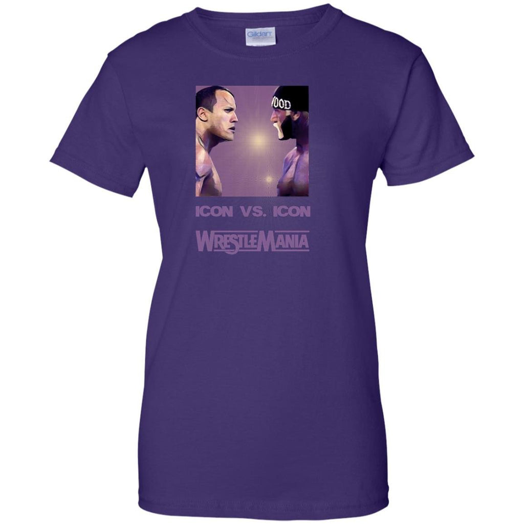 WRESTLEMANI THE ROCK HULK HOGAN - Icon vs Icon T Shirt & Hoodie