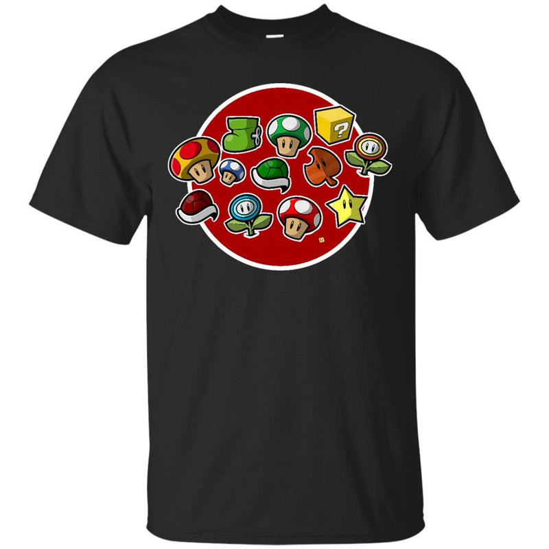 1 UP - Power ups from that game with the mustachioed plumber T Shirt & Hoodie