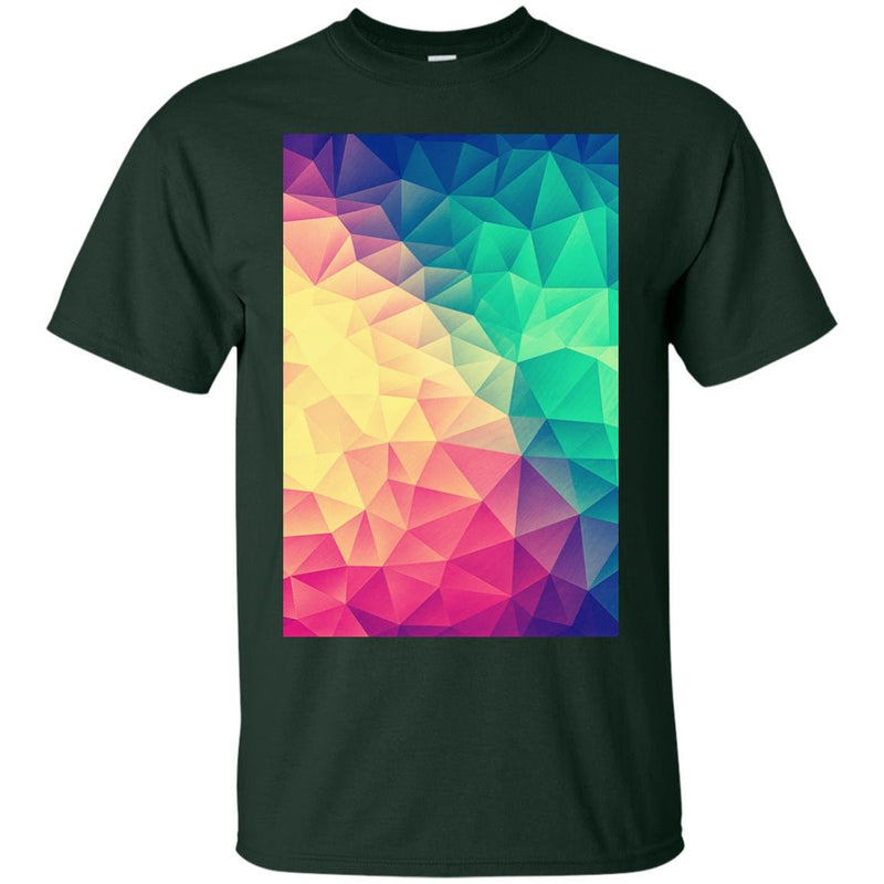7ea7fadd ... COLORFUL - Color bomb Abstract Polygon Multi Color Cubism Low Poly  Triangle Design T Shirt ...