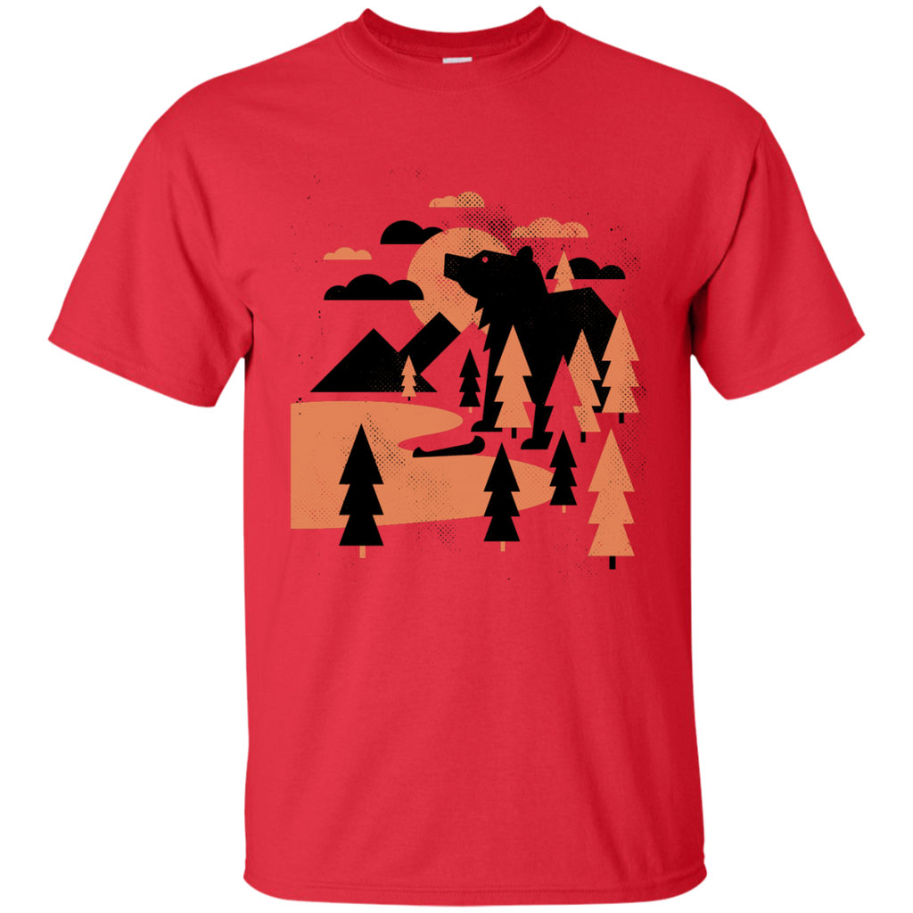 Camping - Bear Lake illustration T Shirt & Hoodie