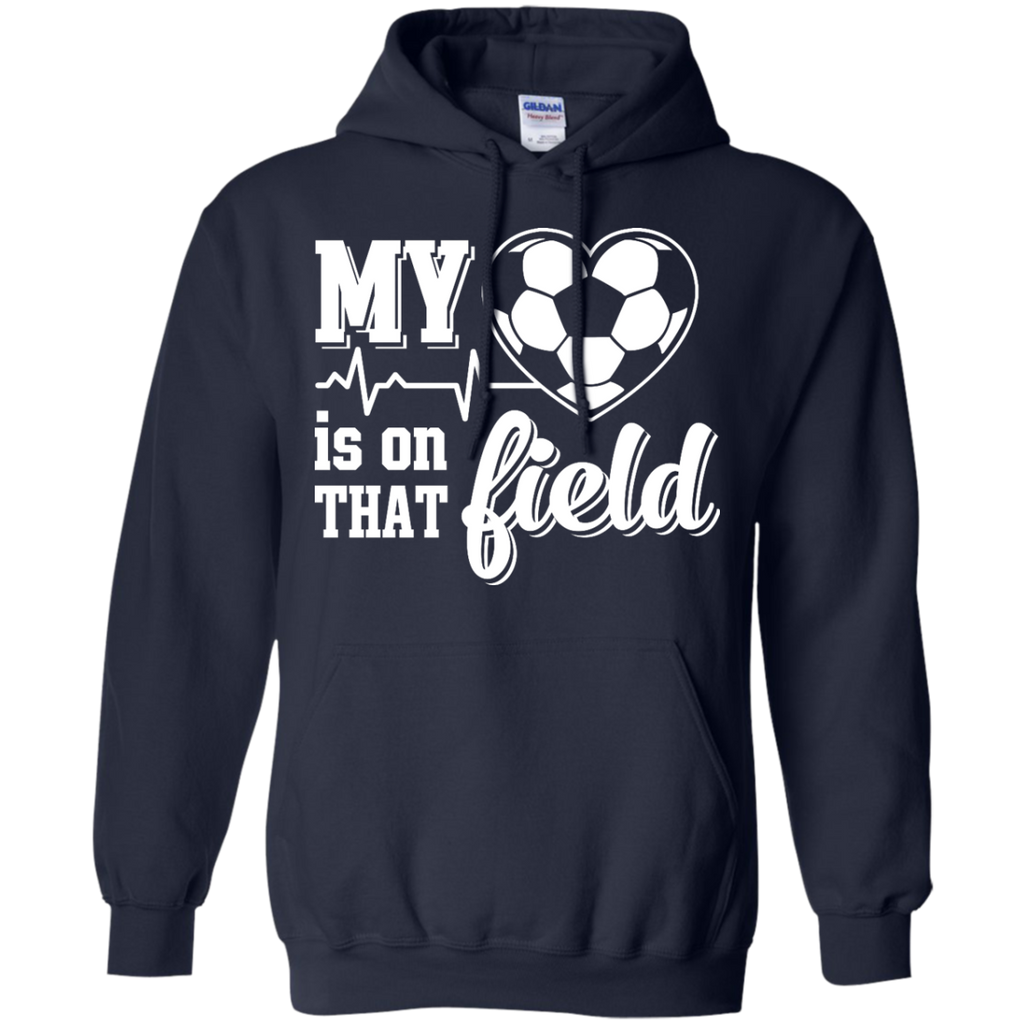Yoga - MY HEART IS ON THAT FIELD SOCCER T shirt & Hoodie