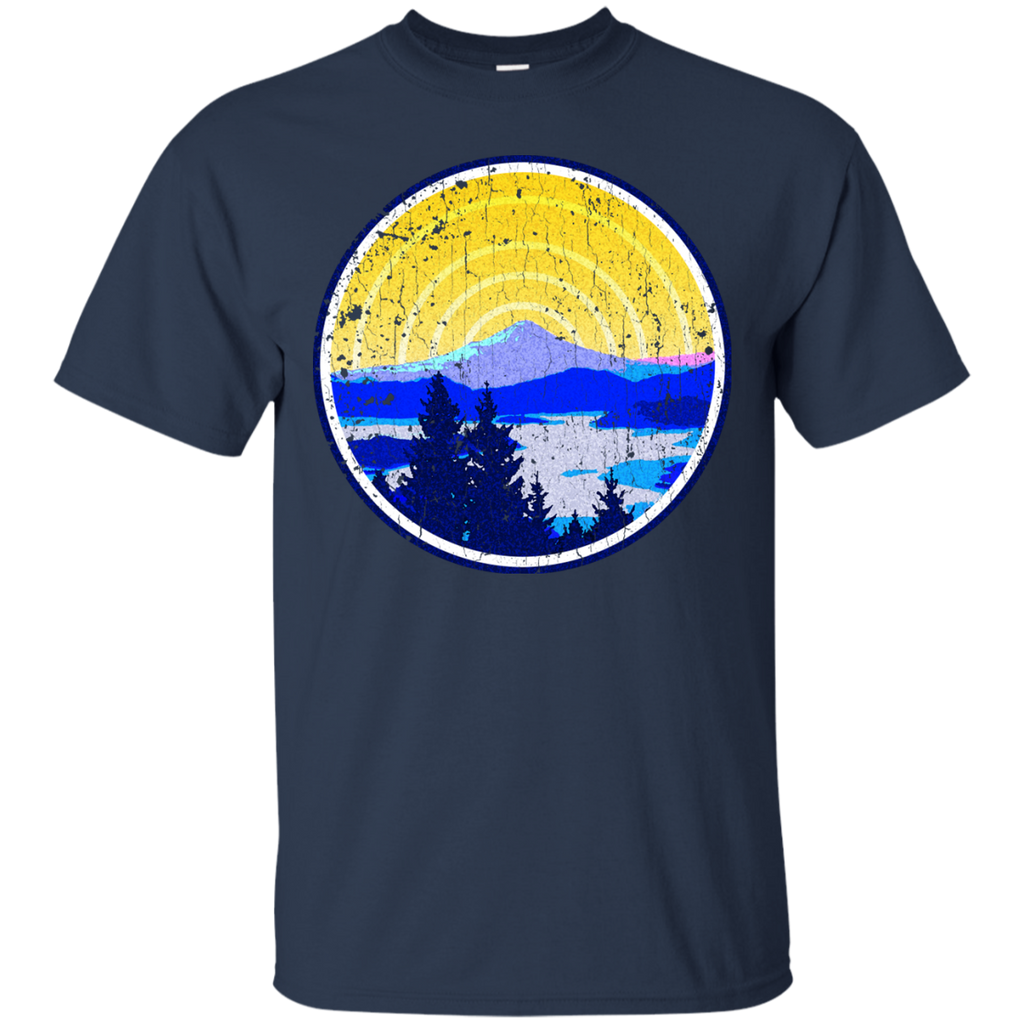 Camping - Vintage Golden Mountain Sunrise mountains T Shirt & Hoodie