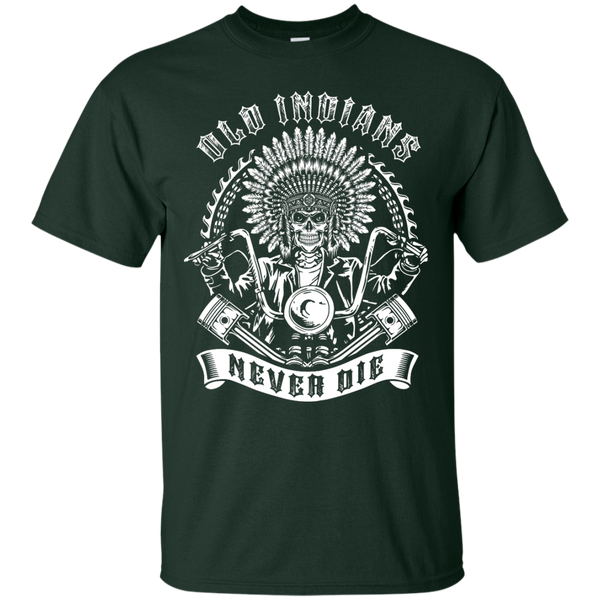 Yoga - OLD INDIANS NEVER DIE FOR BIKER T shirt & Hoodie