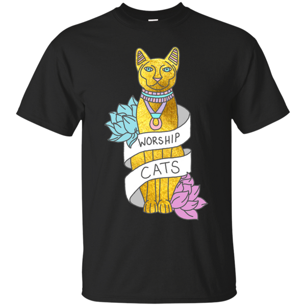 Yoga - Cats Egypt Pyramid Gold Kitten Pets tabby tumblr gold typography T Shirt & Hoodie
