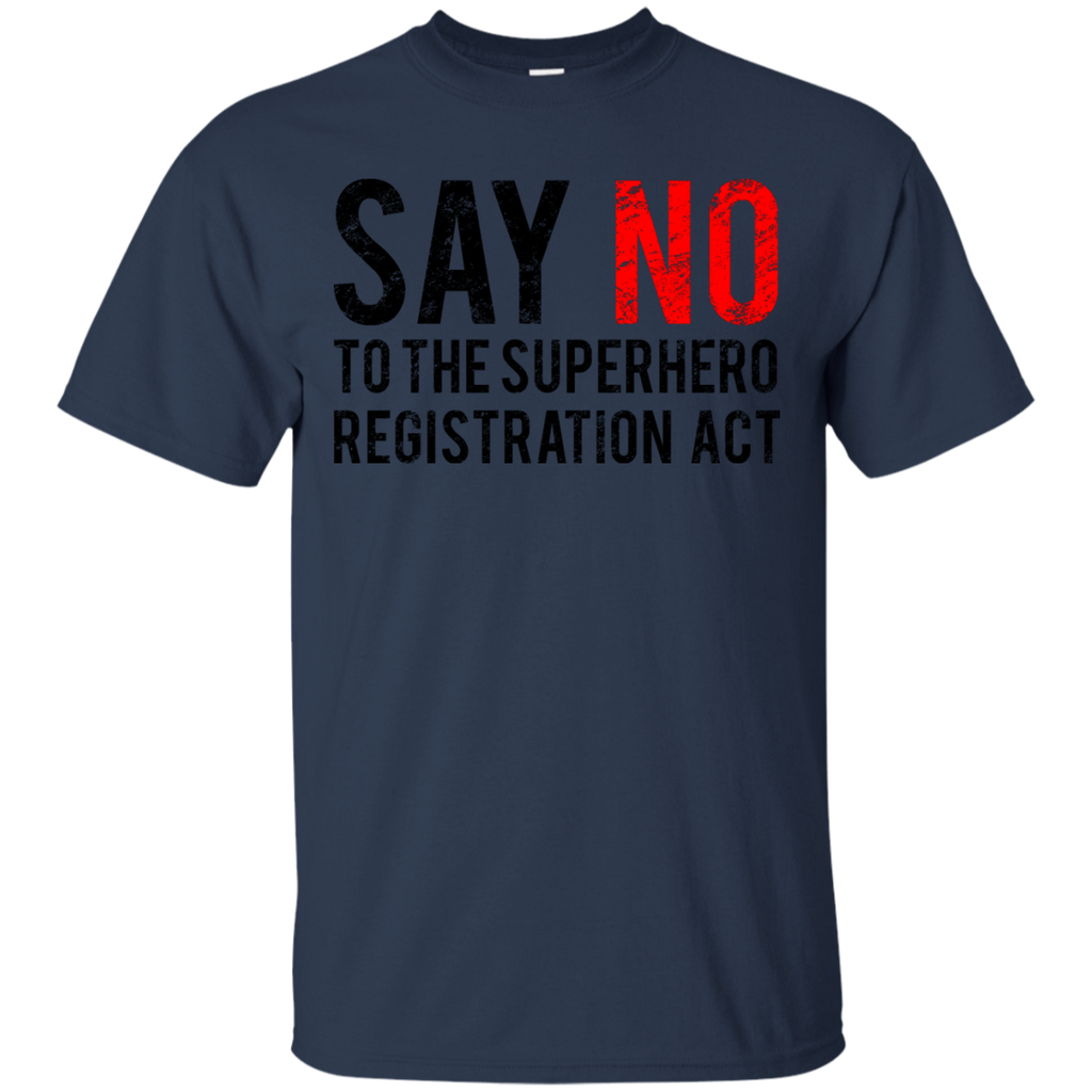 Marvel - Civil War  Say No  Black Dirty civil war T Shirt & Hoodie