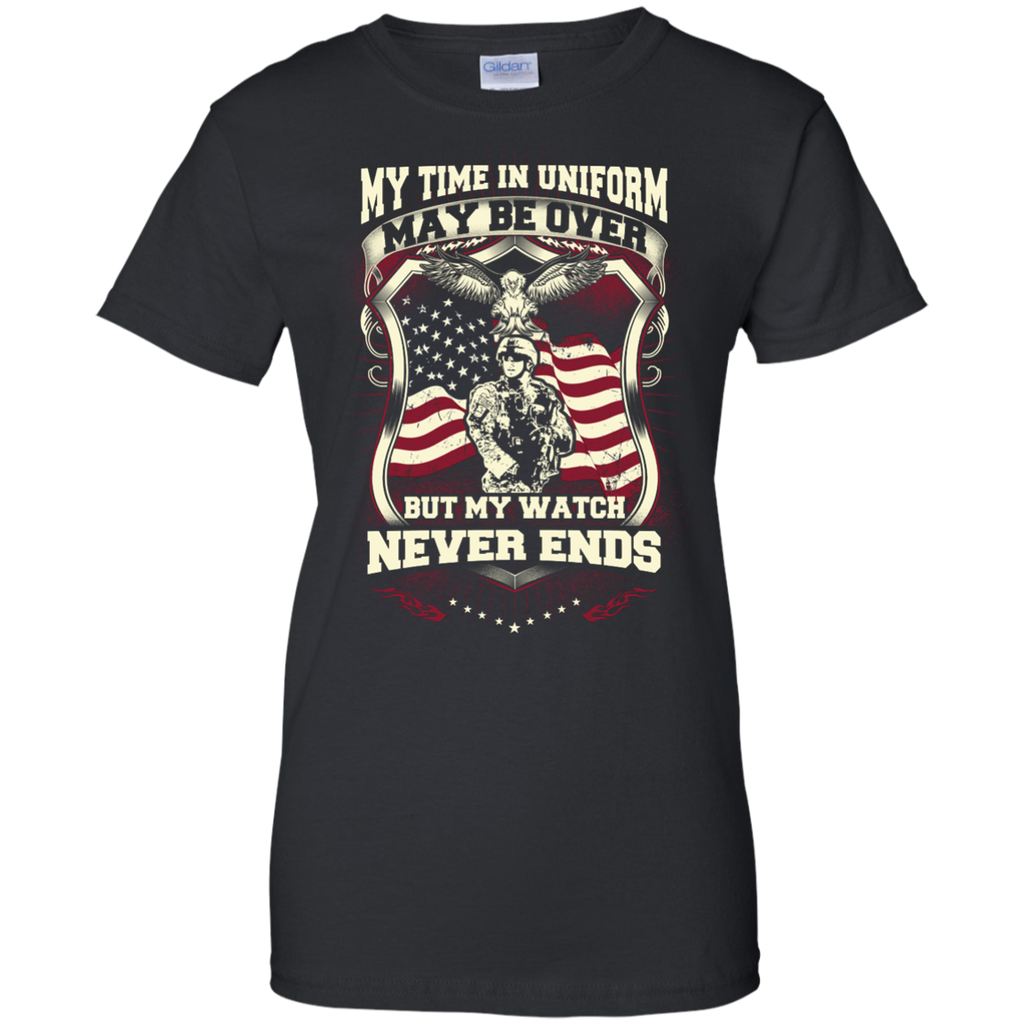 Yoga - MY TIME IN UNIFORM MAY BE OVER BUT MY WATCH NEVER ENDS T shirt & Hoodie