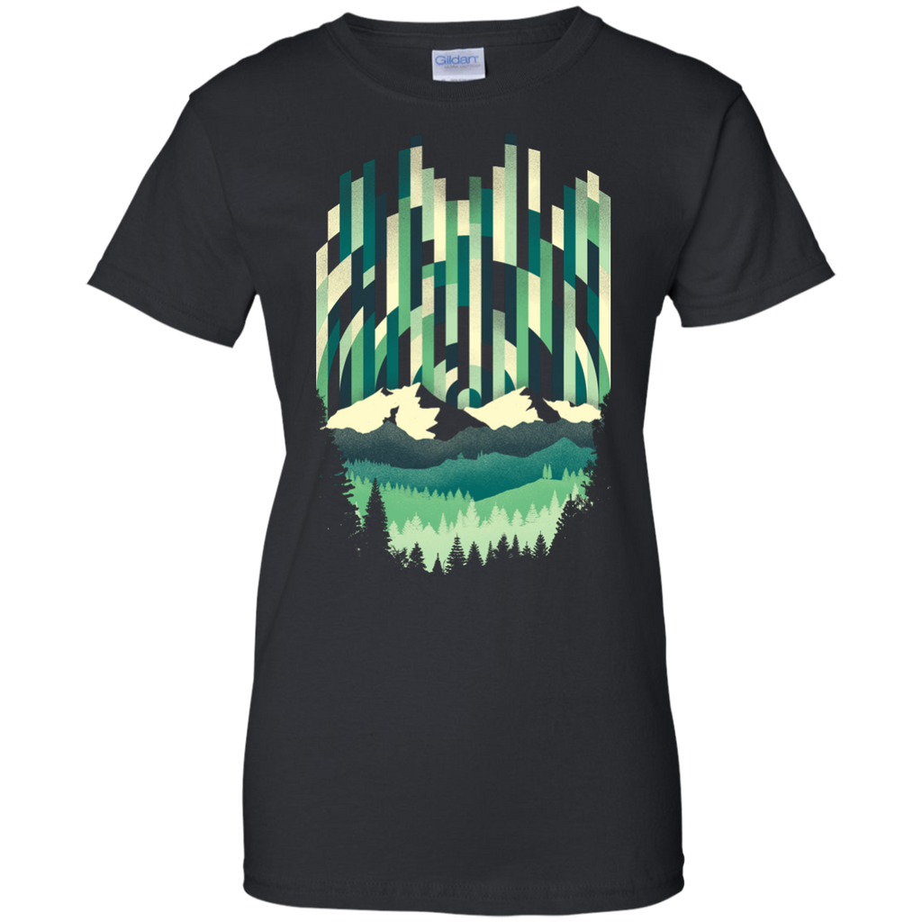 Camping - Sunrise in Vertical trees T Shirt & Hoodie
