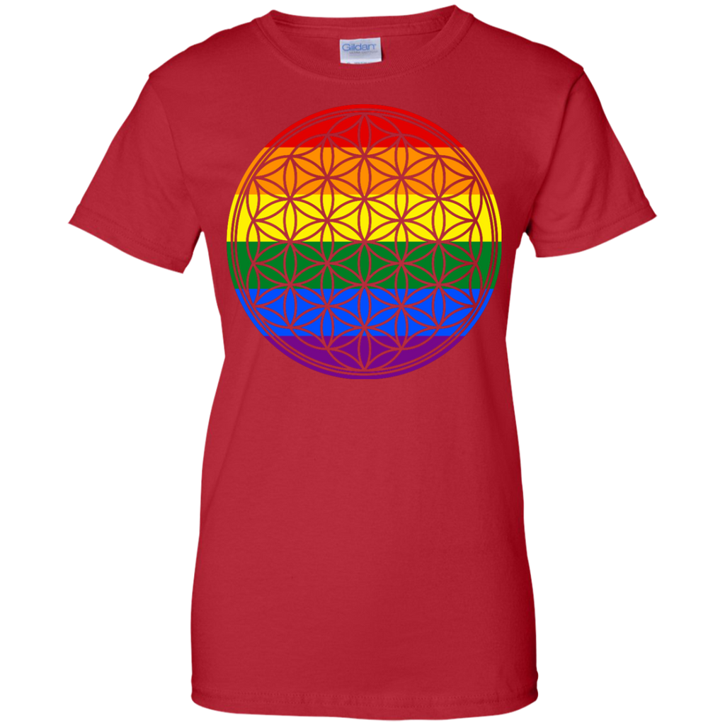LGBT - Flower Of Life Rainbow Flag Stripes rainbow T Shirt & Hoodie