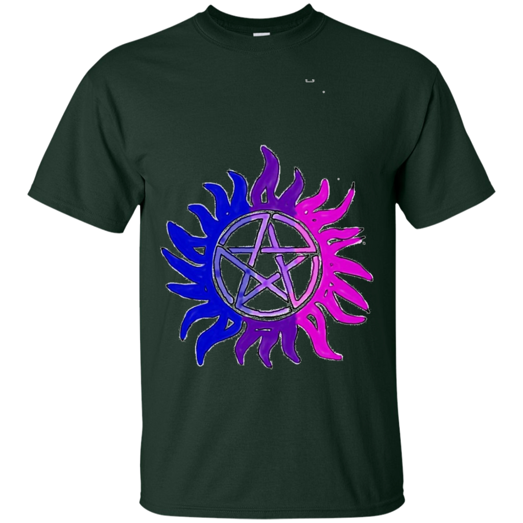 LGBT - Bisexual Pride Flag AntiPossession Symbol supernatural fandom T Shirt & Hoodie