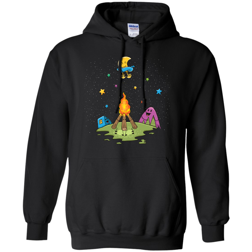Camping - Warming The Moon moon T Shirt & Hoodie
