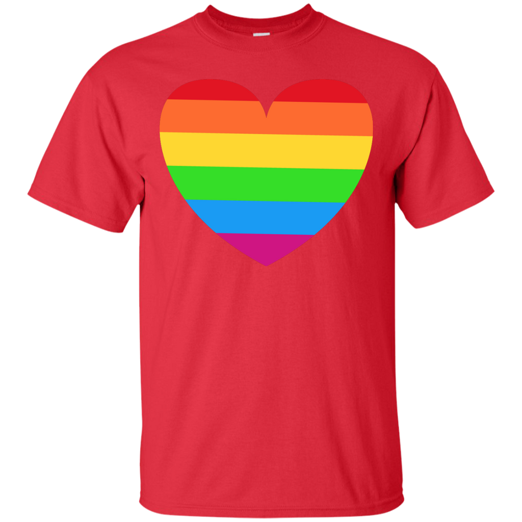 LGBT - Heart Small Rainbow relationship T Shirt & Hoodie