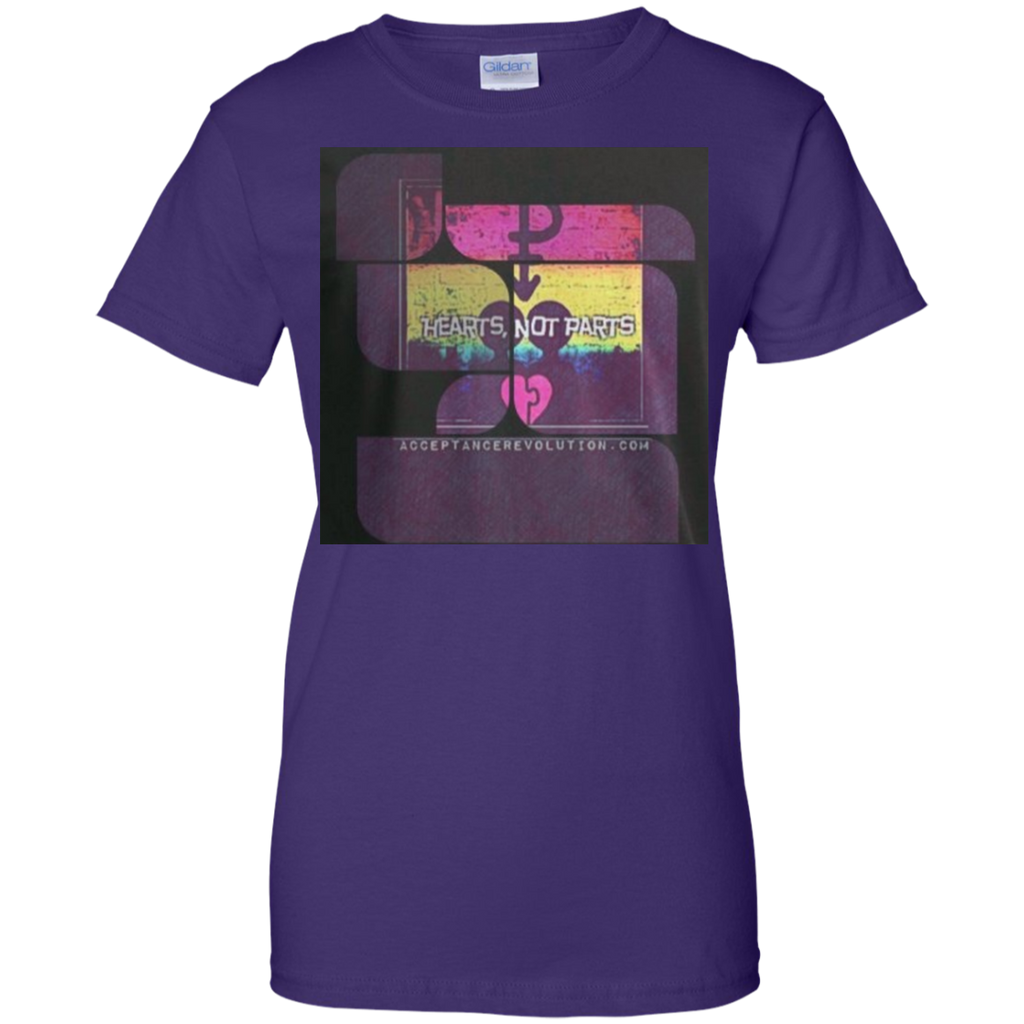 LGBT - Hearts Not Parts acceptance revolution T Shirt & Hoodie