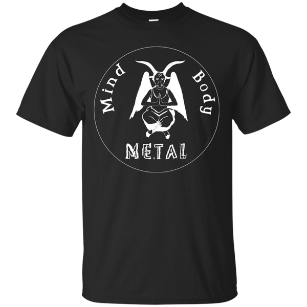 Yoga - Mind Body Metal in Black and White T Shirt & Hoodie