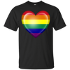 LGBT - Gay Pride Rainbow Heart Flag love T Shirt & Hoodie