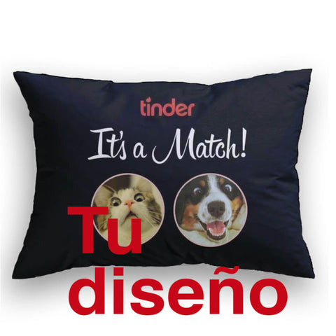 It's a Match Con tus fotos Cojin decorativo