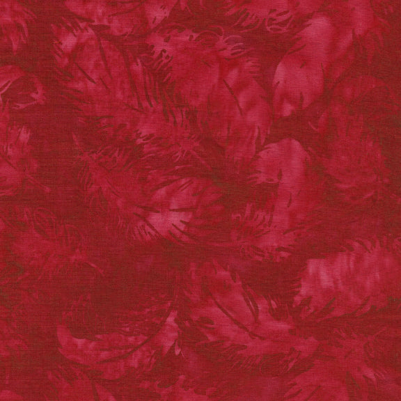 Island Batik - American Frontier Pomegranate Tossed Feathers
