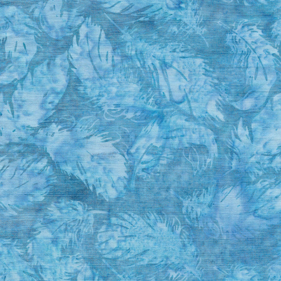 Island Batik - Northern Lights Chambray Tossed Feathers