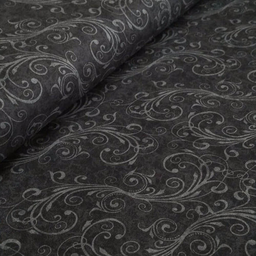 Black Swirl Fabric - Holiday Homecoming Collection