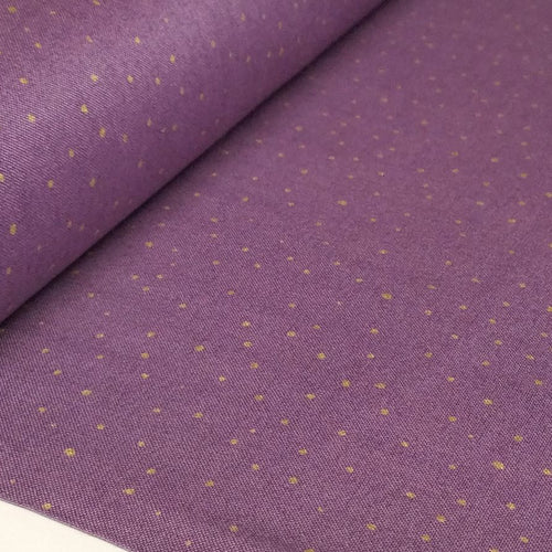Purple Metallic Gold Dot Fabric - Bellisima Collection 26214-L - Mystic Sunset