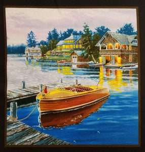 "Classic Boats 24"" Fabric Panel - Mystic Sunset"
