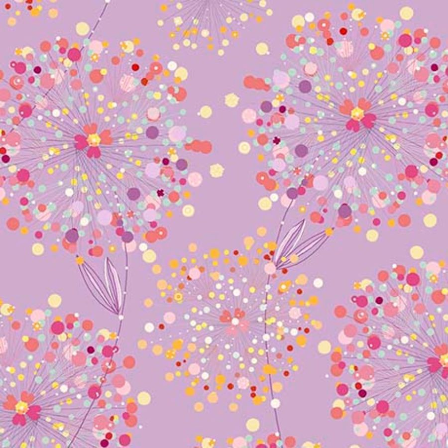 Lilac Confetti Blossoms Fabric from Quilting Treasures