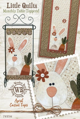 Bunny with Carrot Quilt Pattern April: Little Quilts Monthly Table Toppers - Mystic Sunset