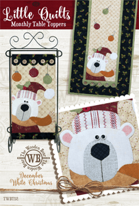 Polar Bear White Christmas Quilt Pattern December: Little Quilts Monthly Table Toppers - Mystic Sunset