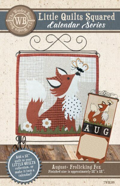 Frolicking Fox Mini Quilt Pattern August: Calendar Series by The Wooden Bear TWBL08 - Mystic Sunset