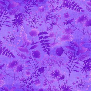 Feather & Flora Purple Wildflower Toss by Studio - Mystic Sunset