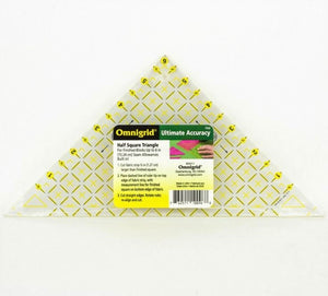 "6"" Omnigrid Half Square Triangle Quilting Ruler"