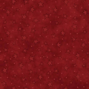 Red Starry Basics Fabric From Henry Glass & Co.