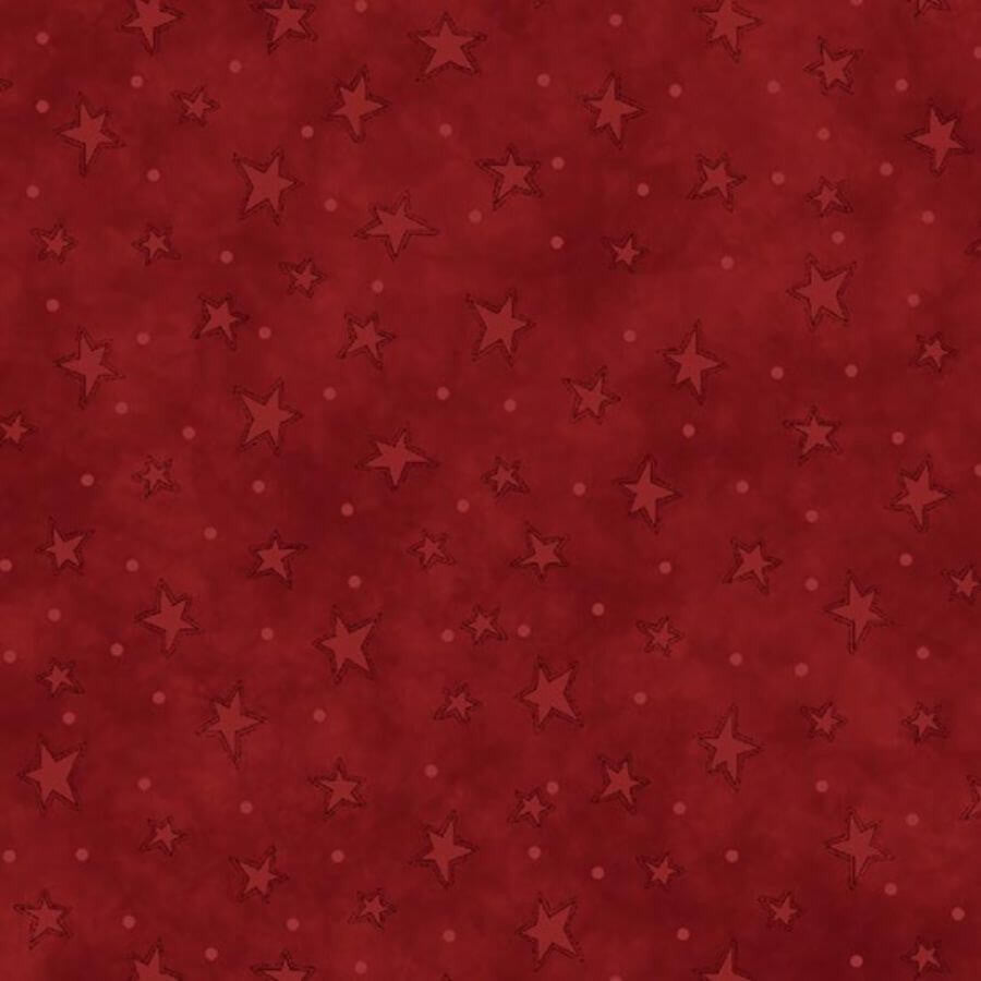 Red Starry Basics Fabric 8294-88 - Henry Glass - Mystic Sunset