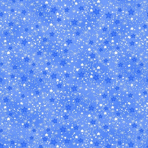 Blue Stars Fabric - Comfy Flannel 9831-11 - Mystic Sunset