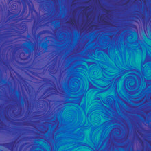 Awaken Swirl Blue Fabric - Timeless Treasures CD6554 - Mystic Sunset