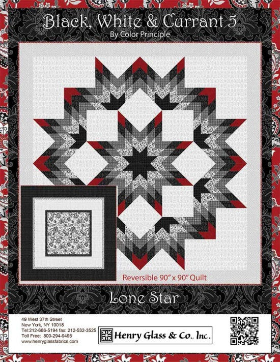 Reversible Lonestar Wallhanging Quilt Pattern - Mystic Sunset