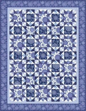 Dutchess-Evening Stars Quilt Pattern - Mystic Sunset