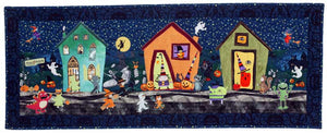 Halloween Street Wall Quilt Pattern - Mystic Sunset