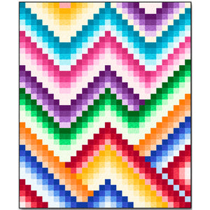 Harmony Bargello Quilt Pattern - Mystic Sunset