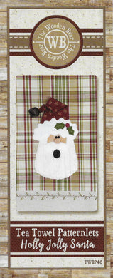 Santa Tea Towel Applique Pattern by The Wooden Bear TWBP40 - Mystic Sunset