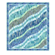 Teal Fusion Bargello Quilt Kit